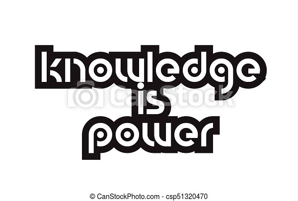 Bold Text Knowledge Is Power Inspiring Quotes Text Typography Design Extraordinary Knowledge Is Power Quote