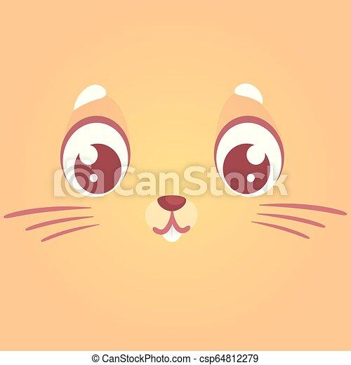 boldog, karikatúra, üregi nyúl, nyuszi - csp64812279