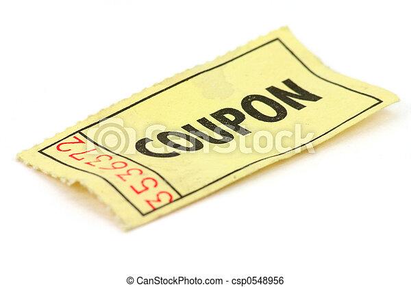 boleto, amarillo - csp0548956