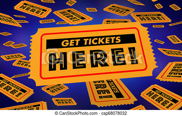 Conseguir boletos aquí comprar oportunidad de lotería entrar para ganar ilustraciones 3D - csp68078032
