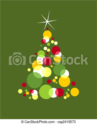 Bolhas Formado Arvore Colorido Natal Disponivel Estrela