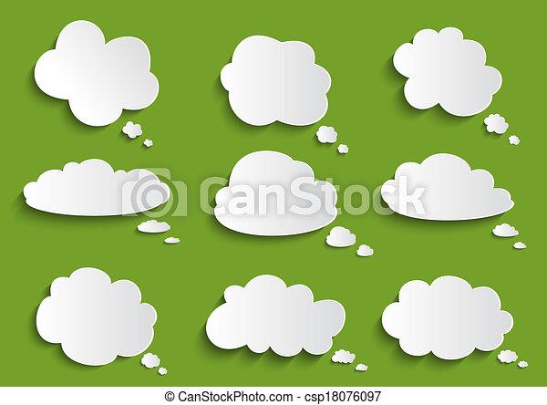 bolla discorso, nuvola, collezione - csp18076097