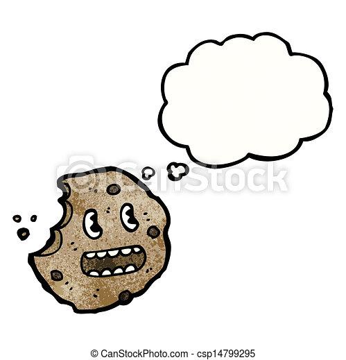 bolla pensiero, biscotto, cartone animato - csp14799295