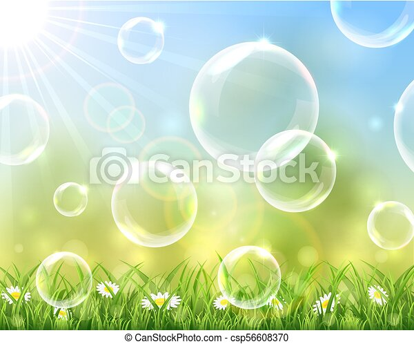 bolle, soleggiato, fondo - csp56608370