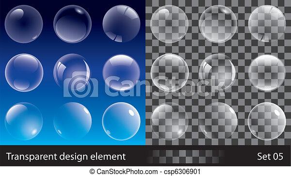 bolle, trasparente - csp6306901