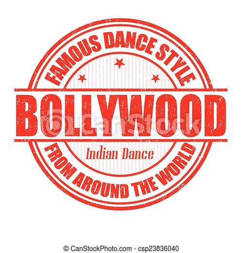 Bollywood stamp - csp23836040