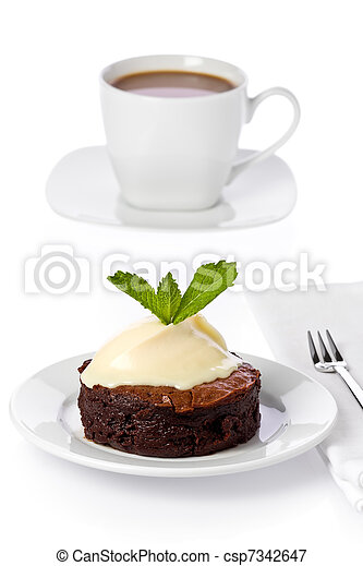 bolo, chocolate-boubon - csp7342647