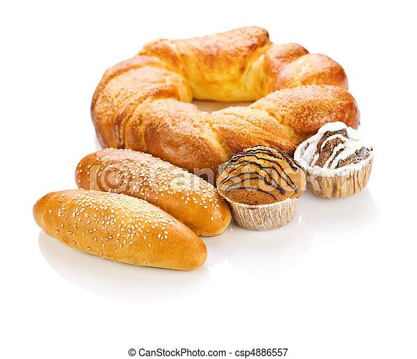 bolo, grande, pão - csp4886557