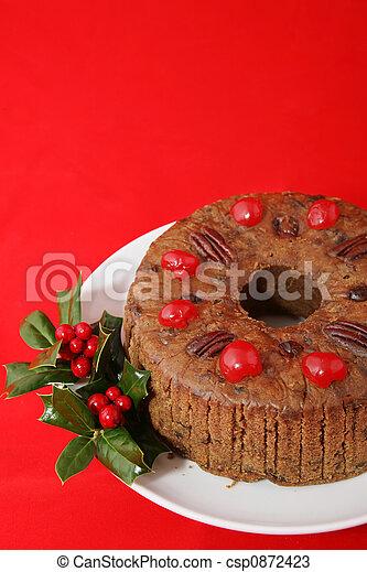 bolo, natal, vermelho - csp0872423