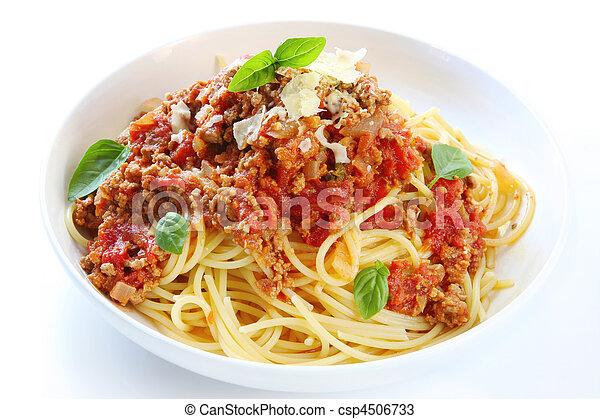 bolognese, espaguetis - csp4506733