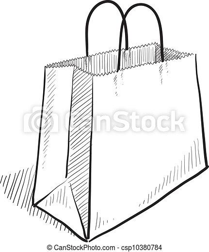 El sketch de la bolsa de compras - csp10380784