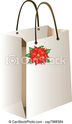 Una bolsa de compras de Navidad - csp7988384