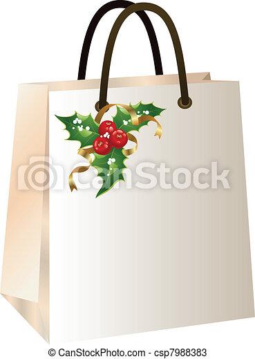Una bolsa de compras de Navidad - csp7988383
