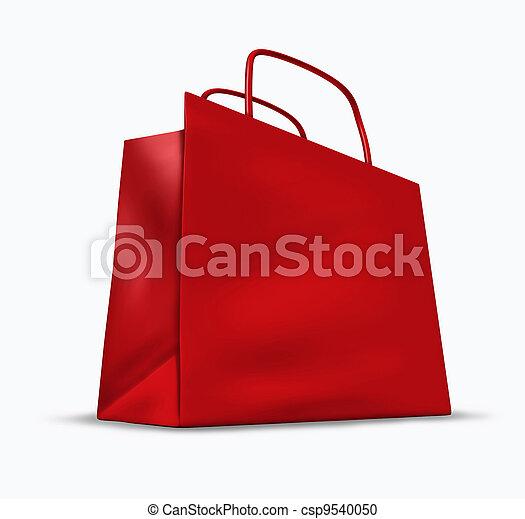 bolsa, compras, rojo - csp9540050
