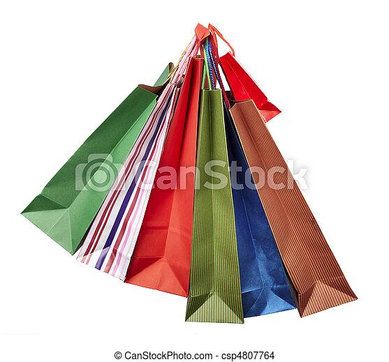 Comprando bolsas de consumismo - csp4807764