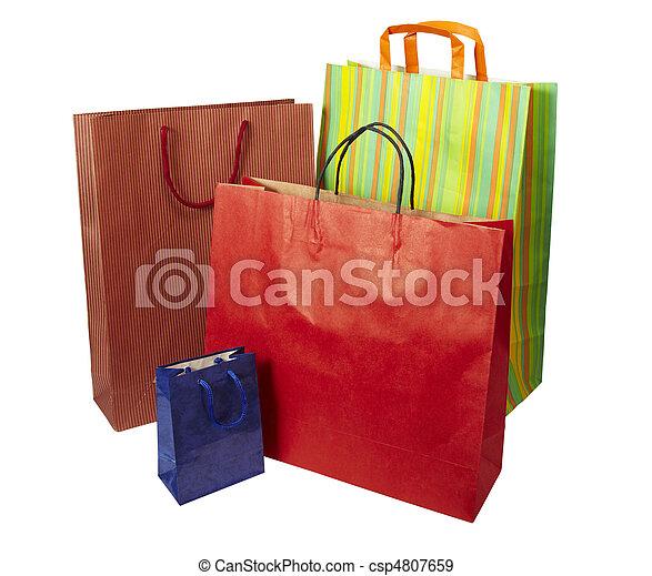 Comprando bolsas de consumismo - csp4807659