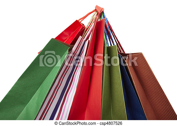 Comprando bolsas de consumismo - csp4807526
