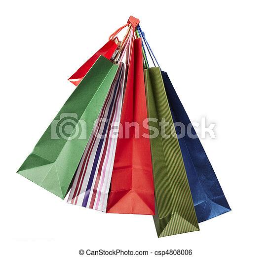 Comprando bolsas de consumismo - csp4808006