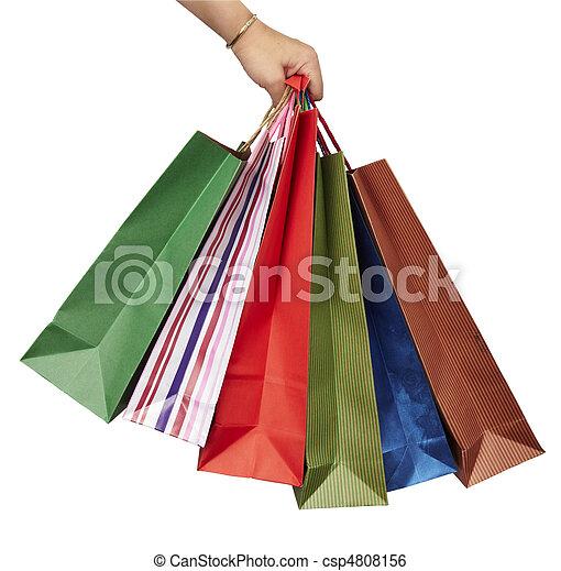 Comprando bolsas de consumismo - csp4808156