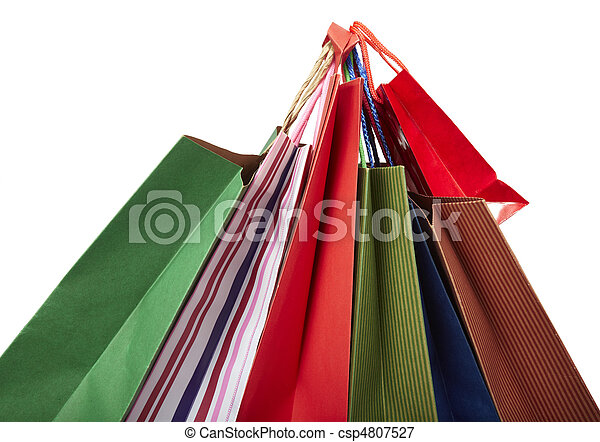 Comprando bolsas de consumo al por menor - csp4807527