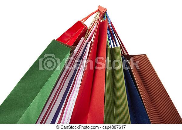 Comprando bolsas de consumismo - csp4807617