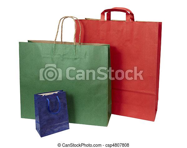 Comprando bolsas de consumismo - csp4807808