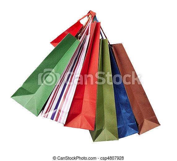 Comprando bolsas de consumismo - csp4807928