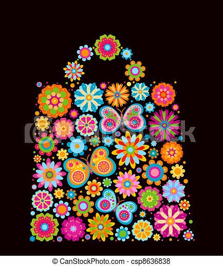 Flores en forma de bolsa - csp8636838