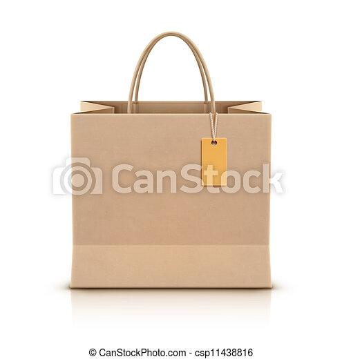 Bolsa de papel - csp11438816