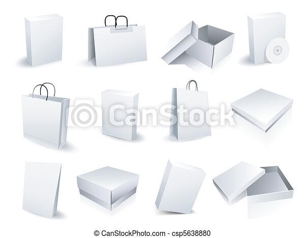 Bolsas de compras y cajas - csp5638880