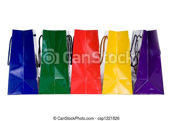 Bolsas de compras coloridas - csp1221826