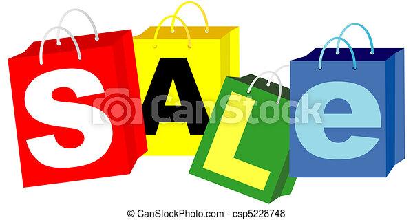 Bolsas de compras, signo de venta - csp5228748