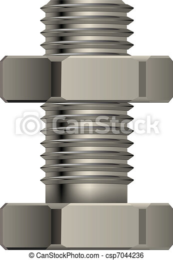 Bolt and nut - csp7044236