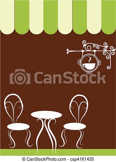 bolt, elnökké választ, asztal, két, kávécserje - csp4161435