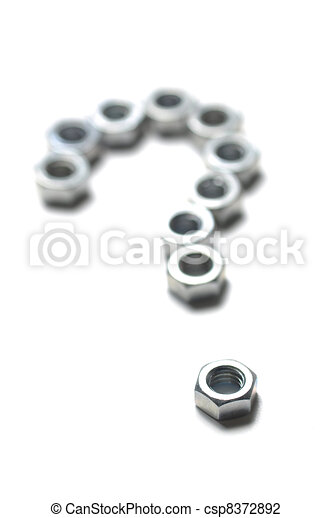Bolt made of question mark - csp8372892