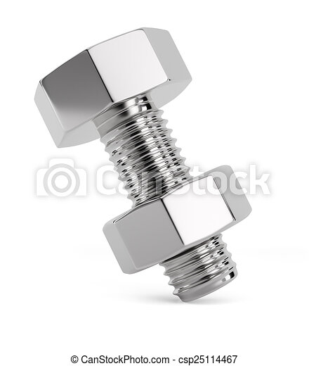 Bolt with nut - csp25114467