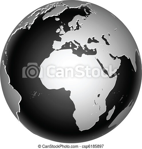 bolygó földdel feltölt, globális, ikon, világ - csp6185897