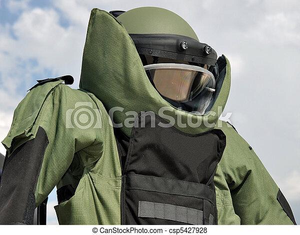 Bomb Disposal Suit - csp5427928