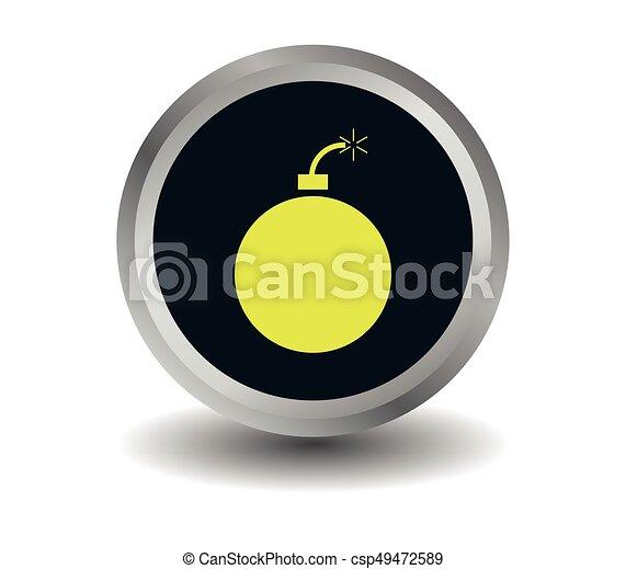 Bomb icon - csp49472589