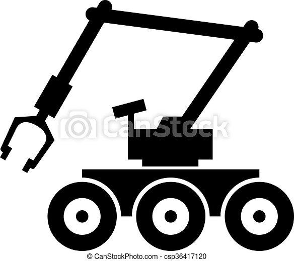 Bomb robot - csp36417120
