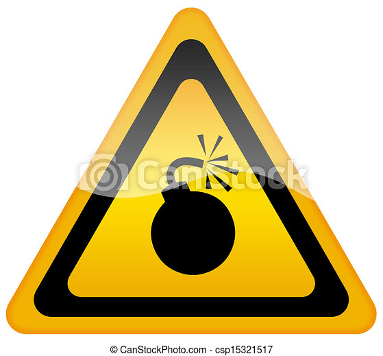 Bomb warning sign - csp15321517
