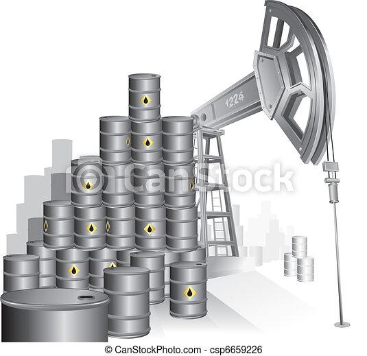 bomba, óleo - csp6659226