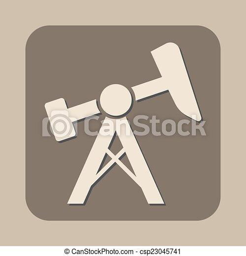 El icono de la bomba de aceite - csp23045741