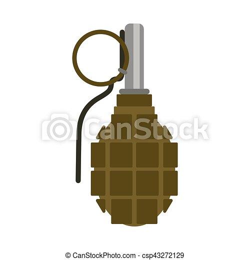 Bomba Granada Vector Gun Aco Explode Bomba Combate
