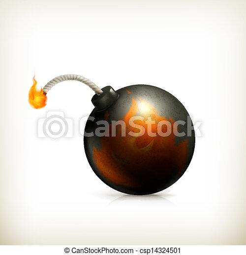 Bomba, icono del vector - csp14324501
