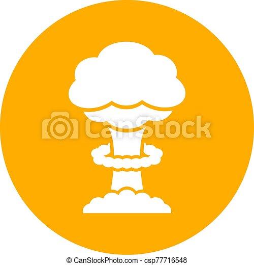 bomba, vector, thermonuclear, icono - csp77716548