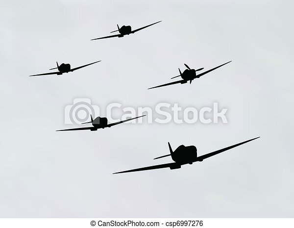 bomber airplane - csp6997276