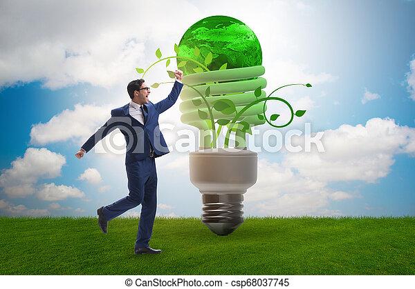 Concepto la eficiencia de energía con bombilla - csp68037745