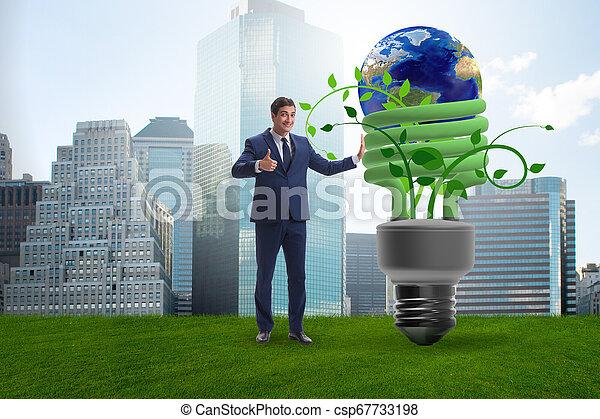 Concepto la eficiencia de energía con bombilla - csp67733198