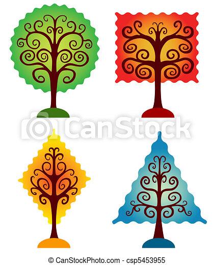 bomen., set, geometrisch - csp5453955